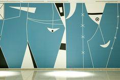 Mural by Athos Bucao at the Brasilia Palace Hotel. ❥Hobby&Decor   veja: Instagram.com/hobbydecor   #decor
