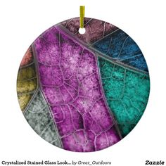 Shop Crystalized Stained Glass Look Leaf Ornament created by Great_Outdoors.