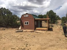 Tiny house with land on 3.09 acres in Walsenburg, Colorado. Only 2.5 hours from Denver. 300 square feet living space, plus two lofts on either side.