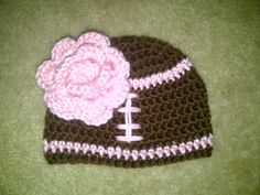 Girls Football Baby Hat (0-3 months) FREE SHIPPING