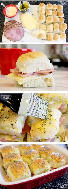 Hot Ham & Swiss Sliders With Poppy Seed Sauce!