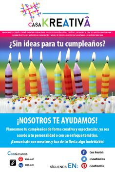 ¿Sin ideas para tu cumpleaños?