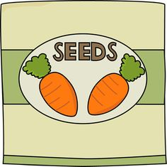 Carrot Seed Packet Clip Art - Carrot Seed Packet Image