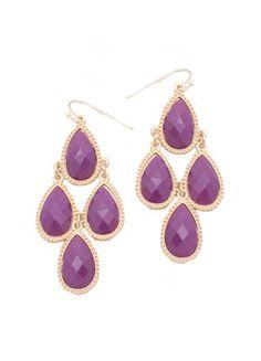 Teardrop Dangle Earrings (purple)