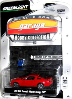 2010 Ford Mustang GT Greenlight Muscle Car Garage Hobby 1:64 scale Series 5 Red #GreenLight #Ford