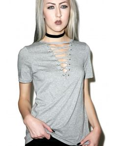 Glamorous Laces Out T-Shirt | Dolls Kill