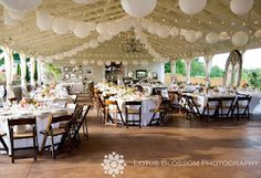 Reception decor at Front Porch Farms by Four Leaf Clover Studio