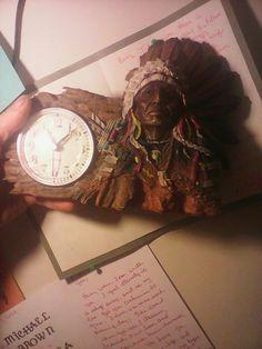 Indian chief clock
