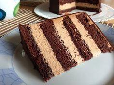 Sponge Cake Recipes, Chocolate Filling, Beautiful Cakes, No Bake Cake, Vanilla Cake, Tiramisu, Dessert Recipes, Food And Drink, Birthday Cake