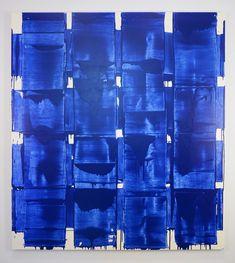 John Zinsser, Blue Spirits, 2016 Enamel and oil on canvas 80 × 72 in 203.2 × 182.9 cm