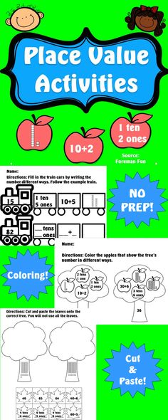 Place Value Activities Base Ten Blocks Expanded Form And Standard