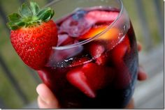 Summer Sangria - juicy, slightly sweet, and ultra-refreshing!