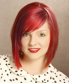 Medium Bob Hairstyle - Straight Casual - Medium Red | TheHairStyler.com