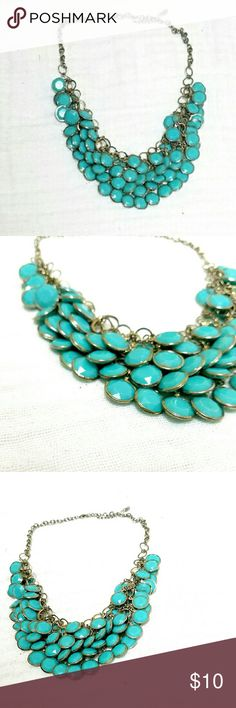 """Charming Charlie Turquoise Statement Necklace Beautiful statement necklace 18"""" with 3"""" extension Charming Charlie Jewelry Necklaces"""