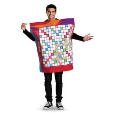 Buy costumes online like the Scrabble Deluxe Adult Costume XL from Australia's leading costume shop. Game Costumes, Funny Costumes, Family Halloween Costumes, Diy Costumes, Adult Costumes, Costumes For Women, Amazing Halloween Costumes, Great Costume Ideas, Halloween Costume Shop