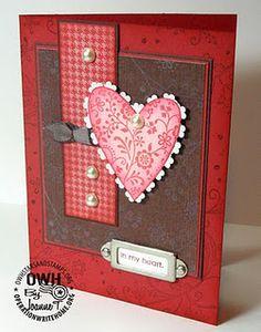 Valentine #card #scrapbook #red #heart
