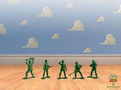 """Send children to hunt for the hidden army men spying on the birthday party like the army men did in the first """"Toy Story"""" movie.  1.Divide the children into 2- or 3-person teams. Give each team a bag.     2.When you say, """"Go,"""" the children have 5 minutes to find as many army men as possible.     3.The team with the most soldiers in their bag at the end of 5 minutes wins!"""