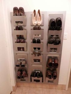 Another ingenious way to store shoes: