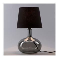 LJUSÅS Uvås Table Lamp IKEA Tekstiilivarjostin filter the light beautifully.