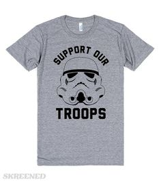 Support Our Troops Vinyl Shirts, Kids Shirts, Cool Shirts, Funny Star Wars Shirts, Star Wars Outfits, Star Wars Merchandise, Support Our Troops, Star Wars Humor, Geek Out