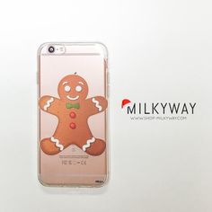 Clear TPU Case Cover for Apple and Samsung Devices - Ginger Bread Man