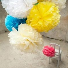 Decorative pom poms - great for a girlie party