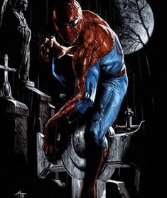 Marvel Comics. Comic Book Artwork • Spider-Man by Gabriele Dell'Otto. Follow us for more awesome comic art, or check out our online store www.7ate9comics.com Online Comic Books, Comics Online, Comic Books Art, Book Art, Marvel Dc, Marvel Comics, Buy Comics, Pop Art Posters, Comic Drawing