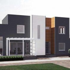 Kontti 170 Modern Architecture, Garage Doors, Exterior, House Design, Outdoor Decor, Sims, Model, Behance, Houses