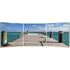 Elementem Photography // Bahamas Pier Triptych Wall Art
