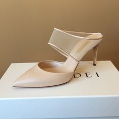 Casadei Casadei Heel. Nude in color. Comes with all packing. New condition, slightly warn bottoms from being tried on. Casadei Shoes Heels