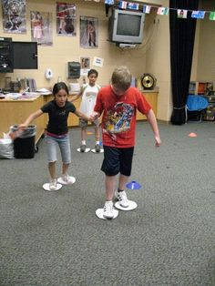 "Music Speed Skating, and other Olympic-inspired movement activities.  Perhaps a little ""fluffy"", but good to have in your tool box on those days that the kids are, shall we say, ready to move  :)"