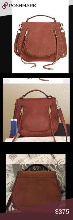 REBECCA MINKOFF LEATHER VANITY SADDLE BAG. Whiskey One HOUR FLASH SALE 🎉Brand New, Leather  ! NWT. Gorgeous bag. Rebecca Minkoff Bags Crossbody Bags