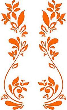 Pochoir pour projets de bricolage, Bine Motif A5 148 x 210 mm Damask Stencil, Stencil Patterns, Stencil Art, Stencil Designs, Stencils, Hand Embroidery Patterns Free, Embroidery Flowers Pattern, Flower Patterns, Grape Painting