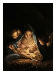 The Holy Night by Carlo Maratta [notice the painting light source, birth of the sun in the Firmament]