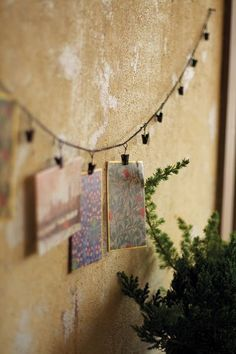 Your modern industrial space will finally be complete. Hang post-cards, holiday cards, photos, notes and more. Hang a garland over a fabric board… Holiday Cards, Christmas Cards, Christmas Decorations, Wall Decorations, Holiday Decor, Support Photo, Fabric Board, Cherished Memories, Dot And Bo
