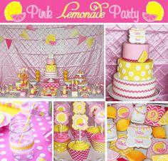 Pink Lemonade Birthday Party Printables Ideas Pinklemonade Girls First 1st