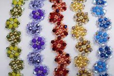 Deb Roberti's Crystal Luster Flower Bracelet pattern is now FREE.