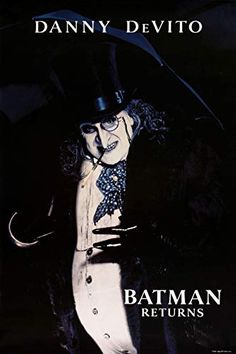 These 3 Antagonists are Confirmed for the New Batman Film Batman Returns Penguin, The Penguin Batman, Batman Returns 1992, The New Batman, Danny Devito Penguin, Tim Burton Batman, Posters Amazon, Batman Begins, Movie Posters