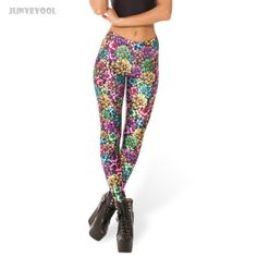 Floral Printed Causal Womens Leggings 3D Colorful Tattoo Pants Women Sexy Tattoo Leg Skinny Pants Fitness Clothing Seamless Lady