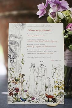 Pretty floral invite captured by Christina Brosnan | onefabday.com