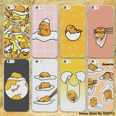 cute lovely gudetama lazy egg hard clear Cases cover for Apple iPhone 7 6 6s Plus SE 4s 5 5s 5c plastic phone case