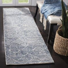 George Oliver Gaither Hand-Tufted Wool Light Blue/Grey Area Rug Rug Size: Runner x Area Rugs For Sale, Rug Sale, Beige Carpet, Hand Tufted Rugs, Traditional Furniture, Blue Wool, Rugs Online, Carpet Runner, Beige Area Rugs