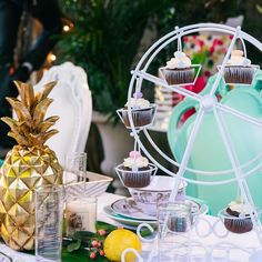 It's your party. Go ahead and celebrate with a Ferris Wheel Cupcake Holder if you want to. #ExploreTheGreatIndoors #WayfairAtHome
