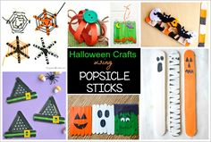 Craft sticks are one of our favorite supplies for creating. They're so easy to work with and are super inexpensive too. Here's 12 Halloween crafts you can make using popsicle sticks!