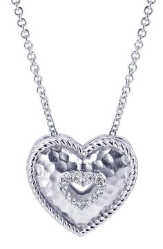 Keep this close to your heart. A silver eternal love heart necklace from Gabriel & Co.
