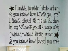 .I love this verse of Twinkle Twinkle