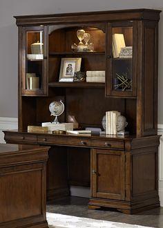 Chateau Valley Home Office Junior Executive Credenza   Liberty   901-HO120B+901-HO120T+901-HO131