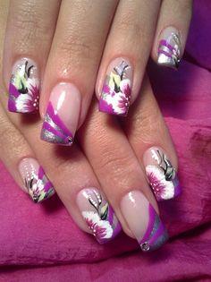 Stricking French by fancynail84 - Nail Art Gallery nailartgallery.nailsmag.com by Nails Magazine www.nailsmag.com #nailart