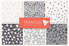 Triangles. Seamless Patterns. Set 2 by Curly_Pat on Creative Market