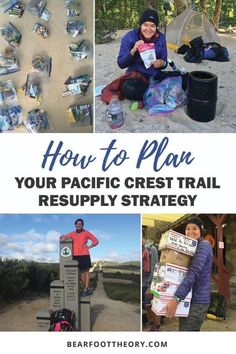 A step-by-step how-to guide for planning your Pacific Crest Trail resupply strategy - including varying resupply strategy options, how to select resupply points, lightweight backpacking food recommendations & food packing tips for your 2,650-mile thru-hike of the PCT.